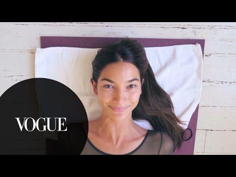 Watch Lily Aldridge Train for the Victoria's Secret Fashion Show - Vogue - YouTube