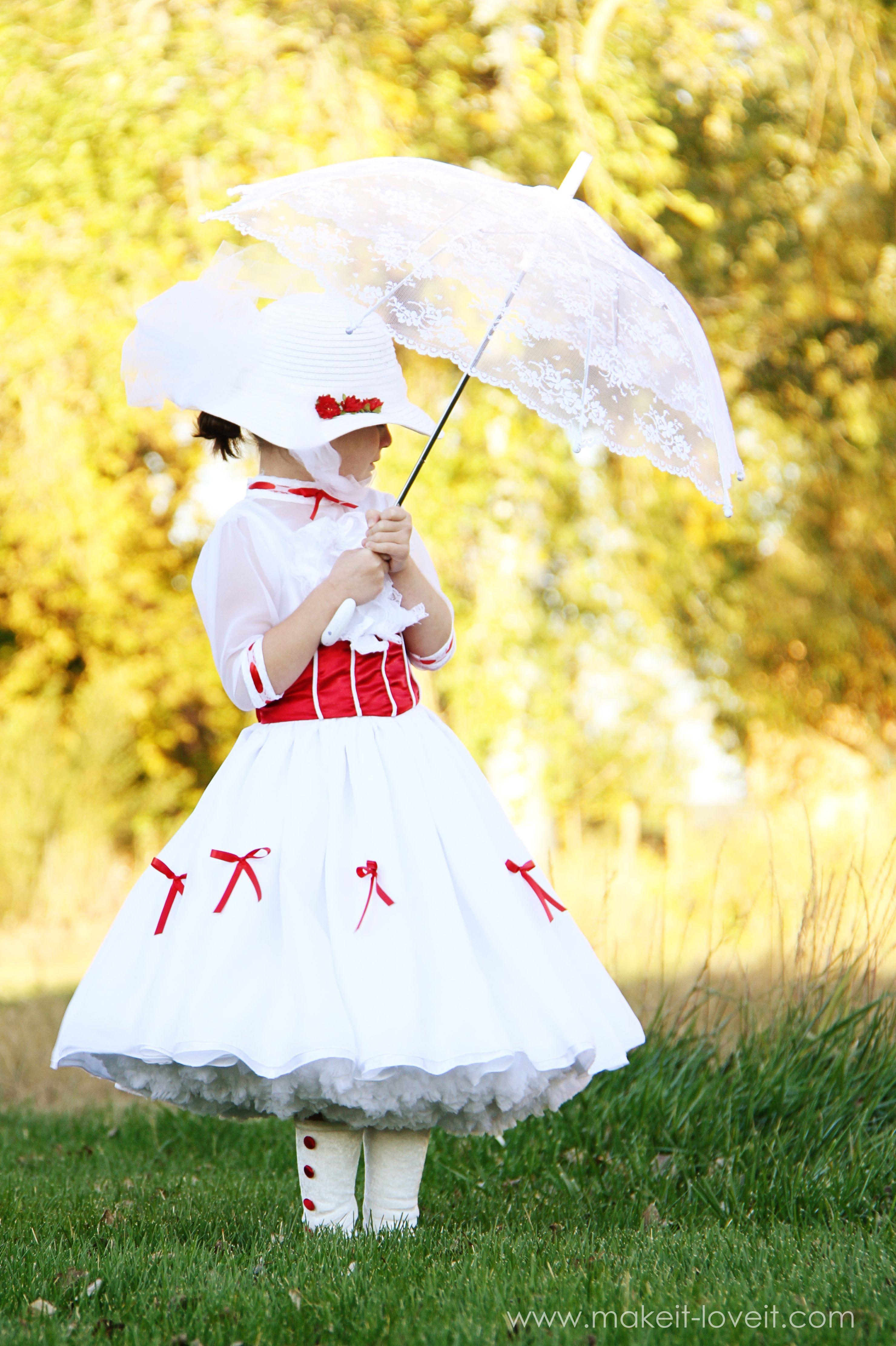 Diy Mary Poppins Costume For Halloween Halloween Pinterest Disfraz Niño Disfraces Niños Y Bebe