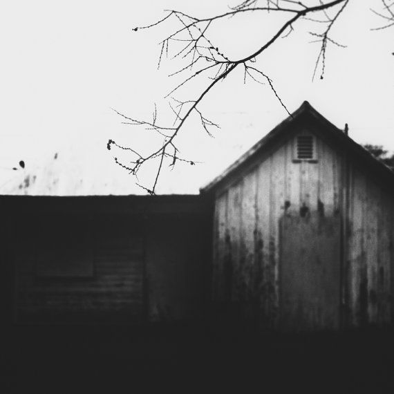 In dreams fine art photography surreal americana black and white vintage art rustic old house 8x8 print via etsy