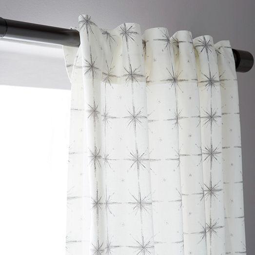 Cotton Canvas Black Eyelet Lined Curtain: Cotton Canvas Nova Curtain