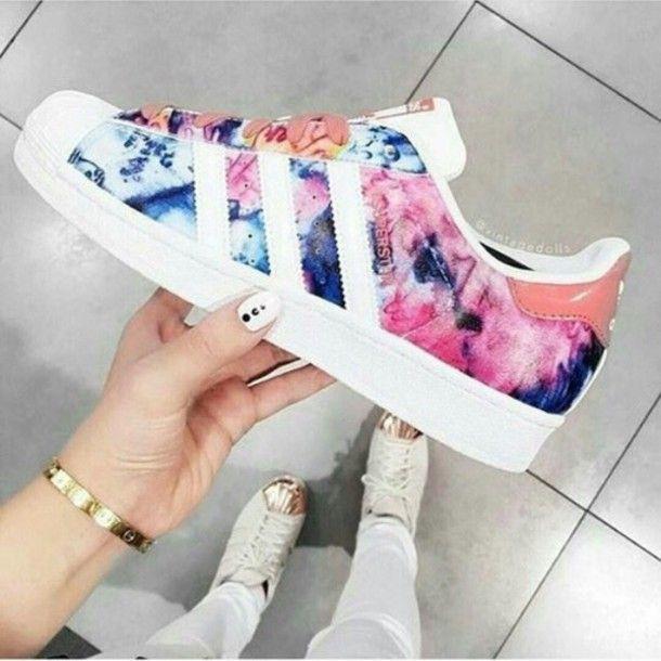 shoes adidas superstars bag adidas trainers flowers love colorful waterfall adidas  shoes adidas! adidas originals