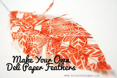 Paper Feathers.                        Gloucestershire Resource Centre http://www.grcltd.org/scrapstore/