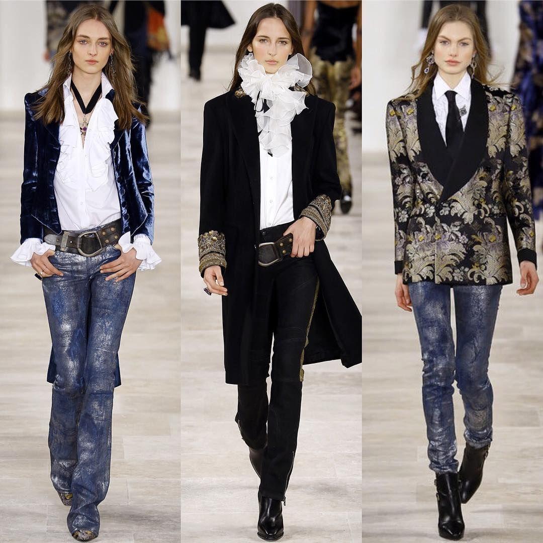 "Santaconstancia Tecelagem: ""3 Looks do Ralph Lauren hoje no #NYFW !! Cool mix de América e Inglaterra... Quem gostou?...por @consueloblocker #consueloparasta #semanademoda @ralphlauren"""