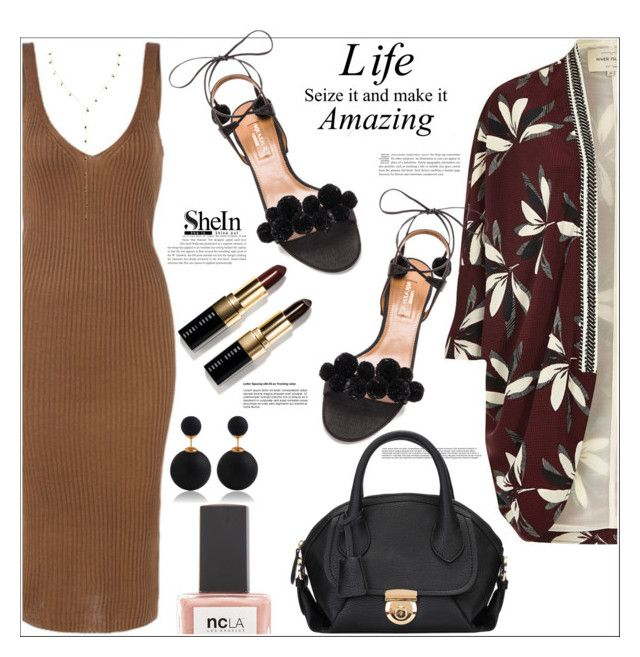 """""""LIFE, seize it and make it AMAZING"""" by mycherryblossom ❤ liked on Polyvore featuring River Island, Aquazzura, ncLA and Bobbi Brown Cosmetics"""