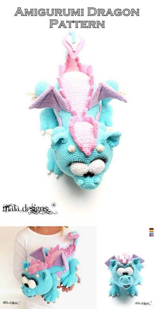 Philip the Dragon Free Crochet Pattern | 1024x512