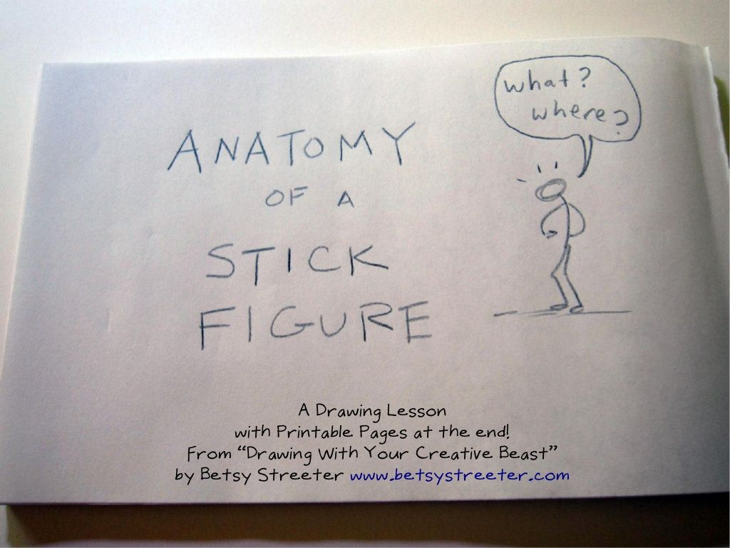 Anatomy Ofa Stickfigure By Betsy Streeter Via Slideshare Craft