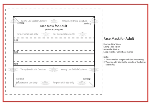 Surgical Face Mask Pattern In 2020 Face Mask Face Mask