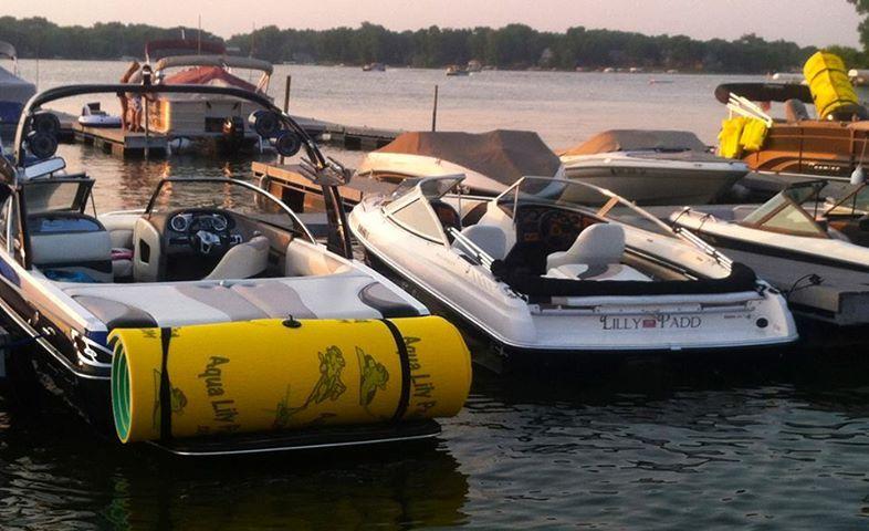 Aqua lily pad ok home floating boat docks aqua lily