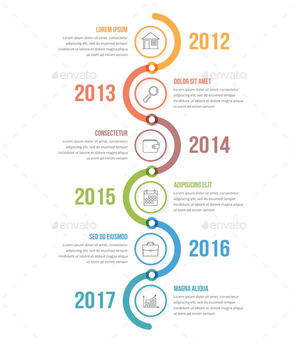 Vertical Timeline Infographics  Flowchart Timeline And Infographics