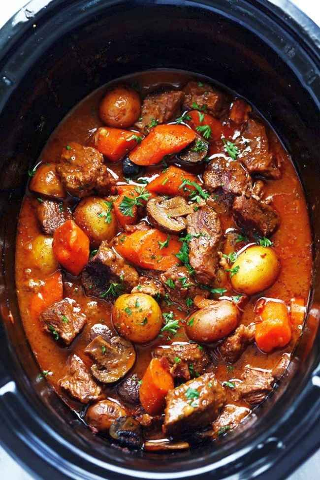 Photo of Slow Cooker Beef Bourguignon – Recipes de