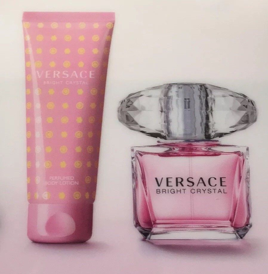 Body Women's Perfume W Versace Crystal Gift Bright Set Lotion Box E2IeDHYW9b