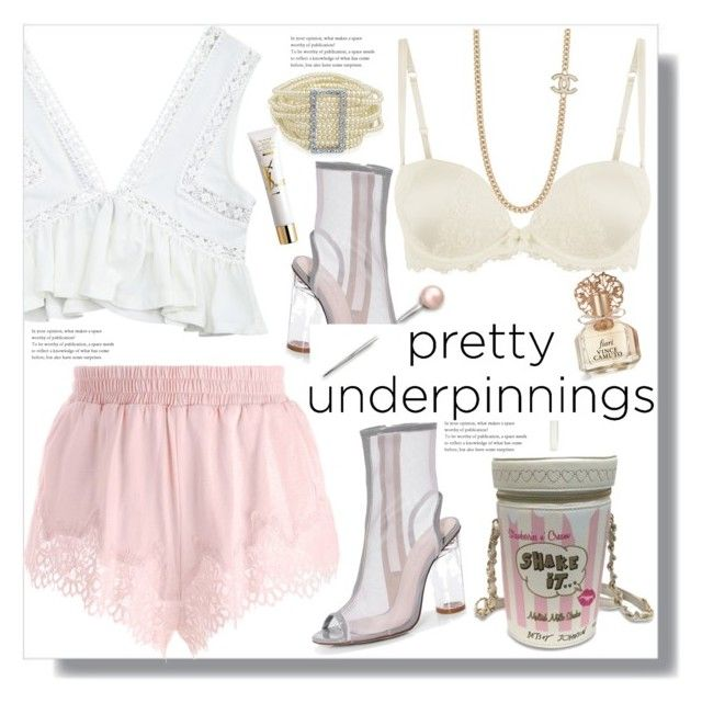 """""""The Prettiest Underpinnings"""" by queenvirgo on Polyvore featuring Betsey Johnson, Puma, Boohoo, Vince Camuto, Bling Jewelry and Yves Saint Laurent"""