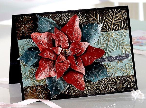 "Signature Collection by Sara Davies - Festive Wonder 5"" X 7"" Embossing Folder - Snow Flurry"