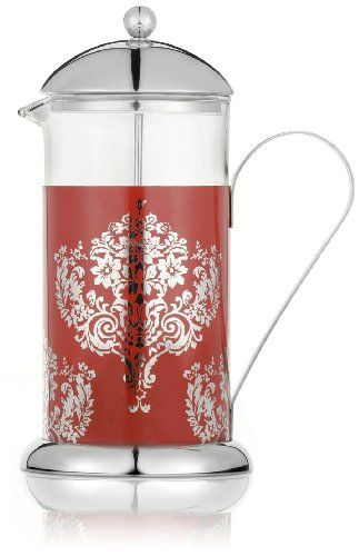 La Cafetiere TA080200 Titania 8 Cup French Press Coffee Maker Stainless Construction with Etched Design - http://teacoffeestore.com/la-cafetiere-ta080200-titania-8-cup-french-press-coffee-maker-stainless-construction-with-etched-design/