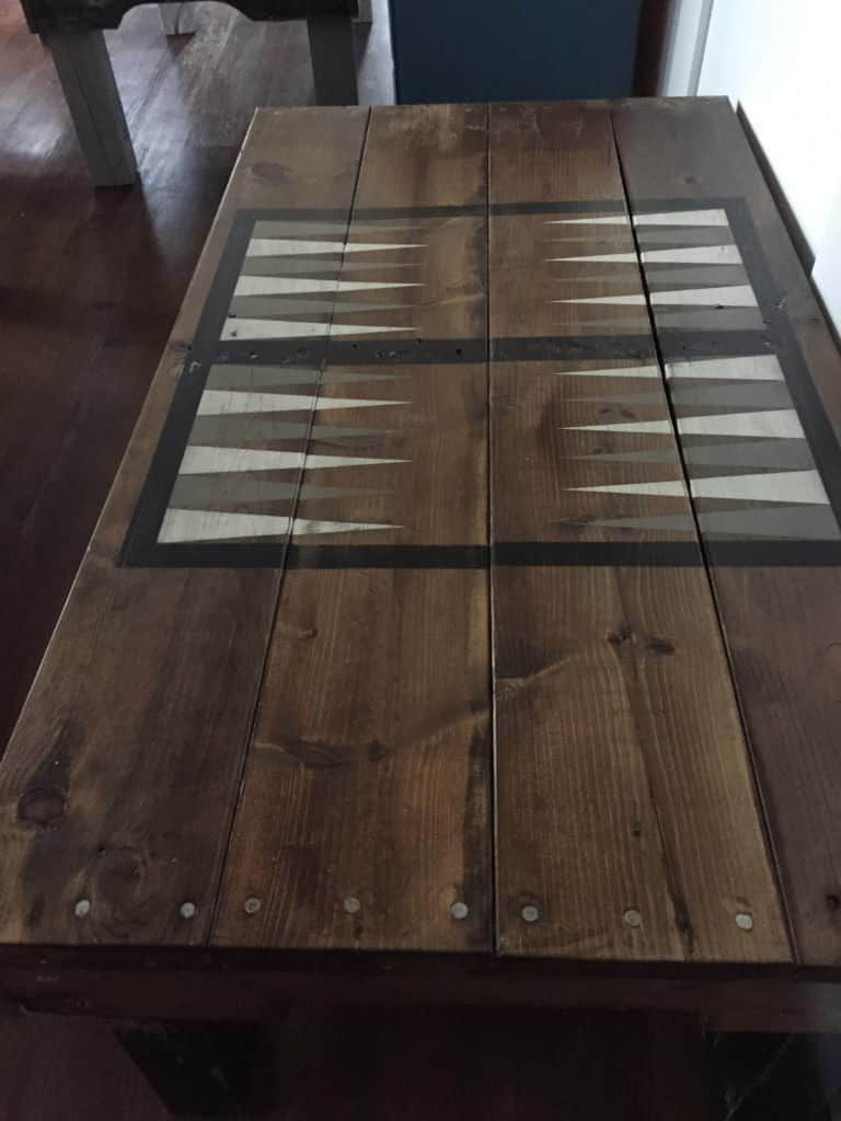 Pallet Backgammon Table Backgammon Table Pallet Table Painted Picnic Tables