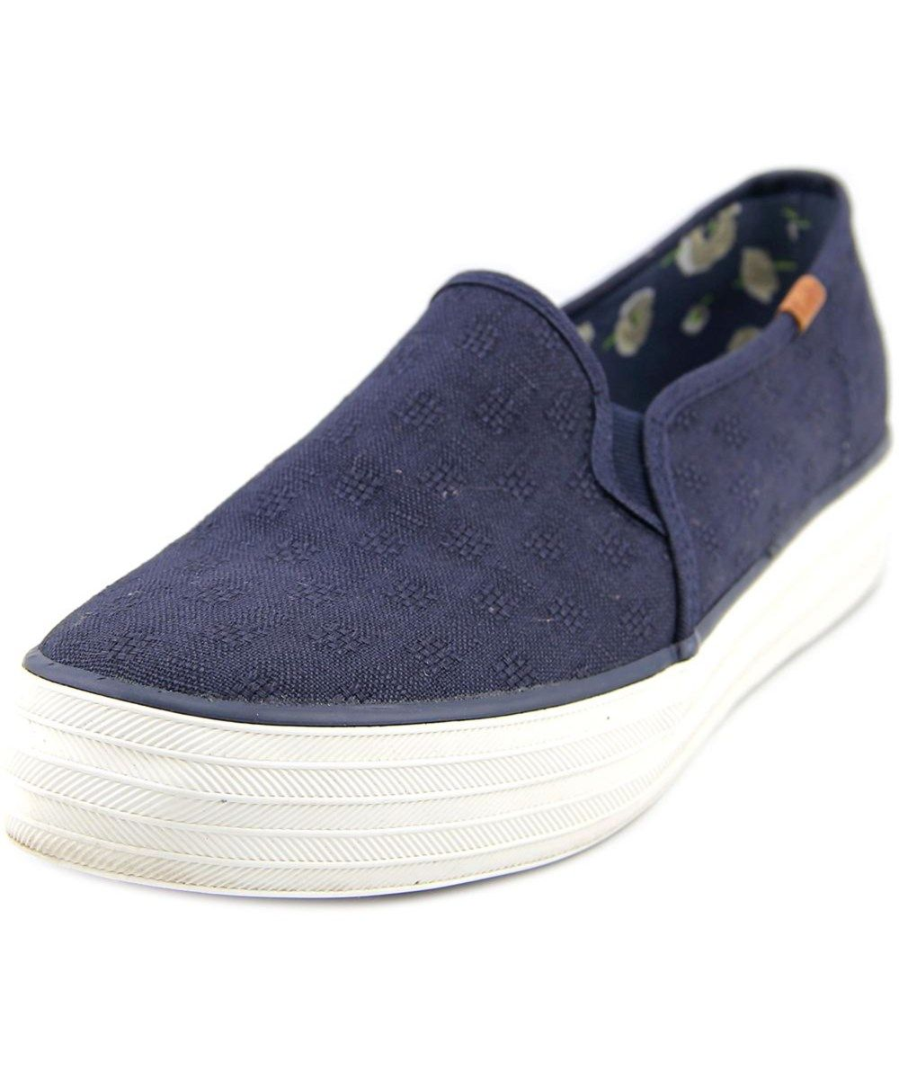 Women Round Toe Canvas Blue Sneakers