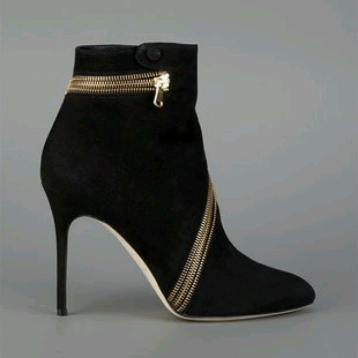 Brian Atwood zip ankle boots