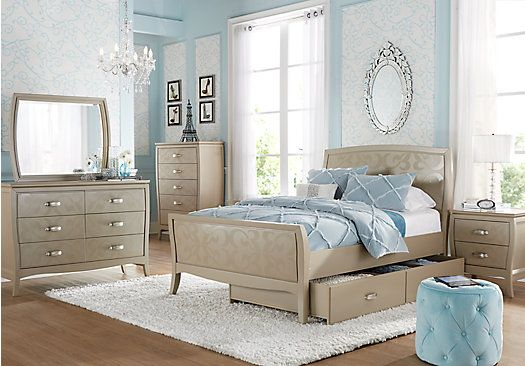 Teens Bedroom Sets Custom Shop For A Belle Noir Champagne 5 Pc Full Bedroom At Rooms To Go 2018