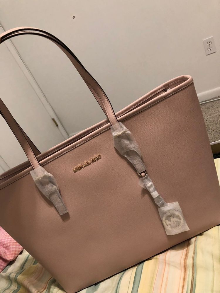 784a675bfec3 Michael Kors Jet Set Travel Large Soft Blush Pink Tote  fashion  clothing   shoes  accessories  womensbagshandbags (ebay link)