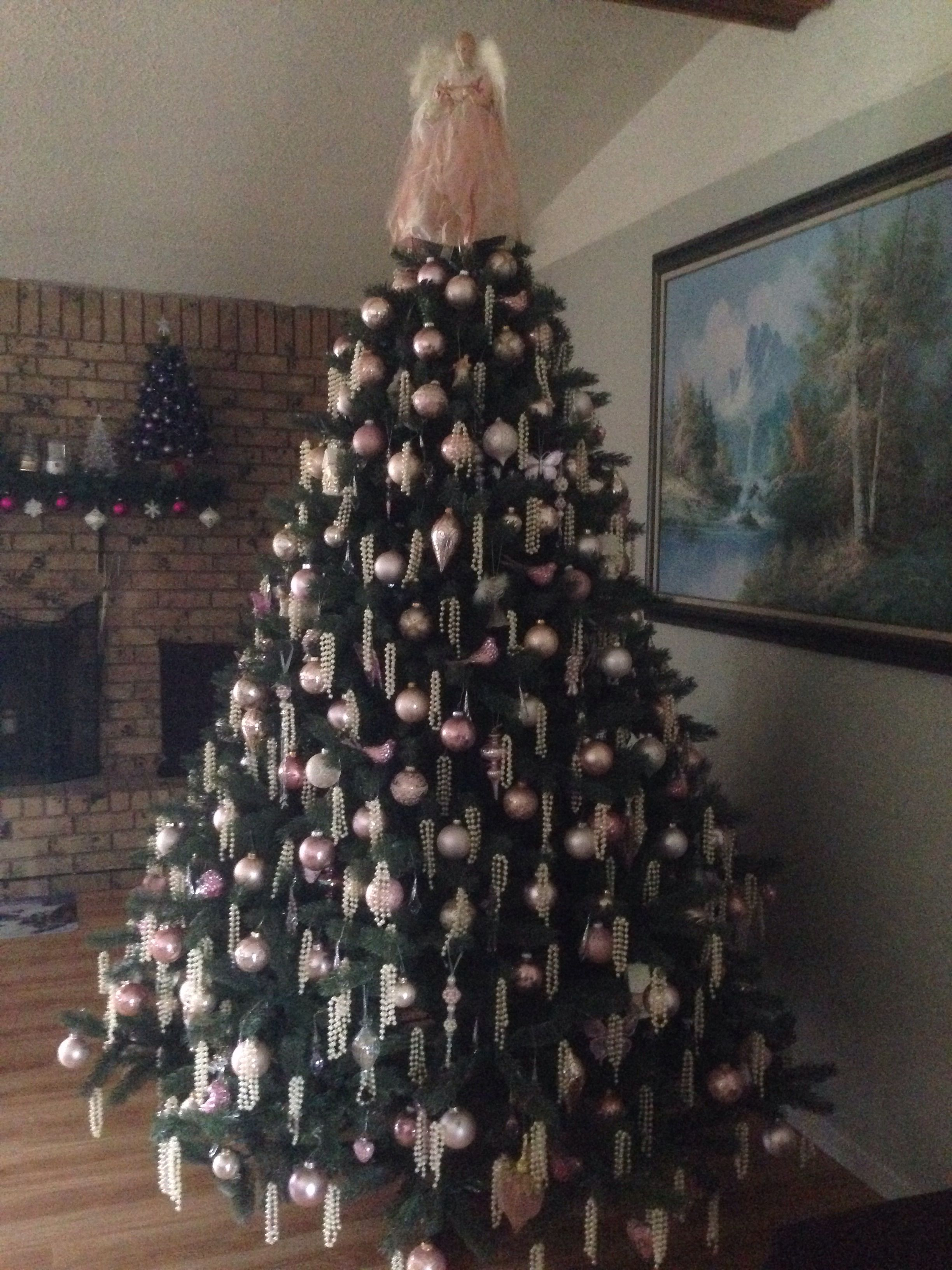Last Year S Tree Done In Pink Cream And Gold Christmas