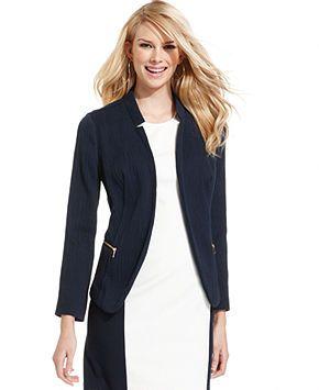 Alfani navy jacket   via Macy's