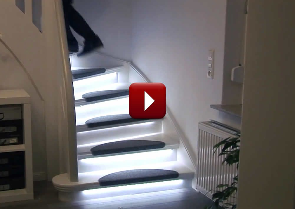 Automatic Stair Lighting | Home Automation For Aging In Place · Smart HouseCrown  MoldingsStairway ...
