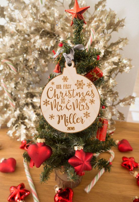 our first christmas ornament married personalized christmas ornaments mr and mrs gifts couple