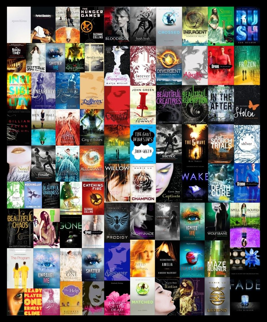 My own collage i made :D All the books i love...some of ...