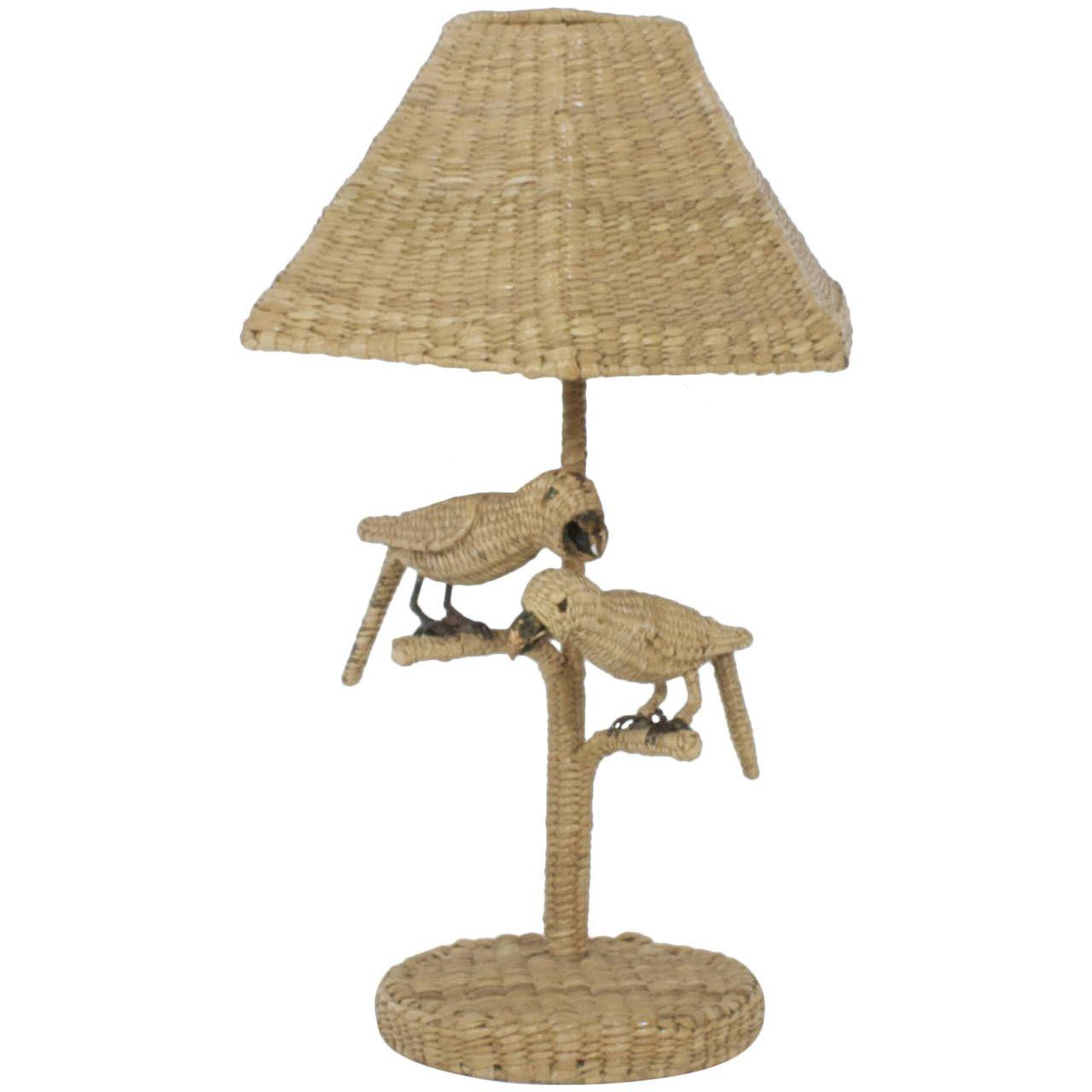 Mario Torres Wicker Table Lamp