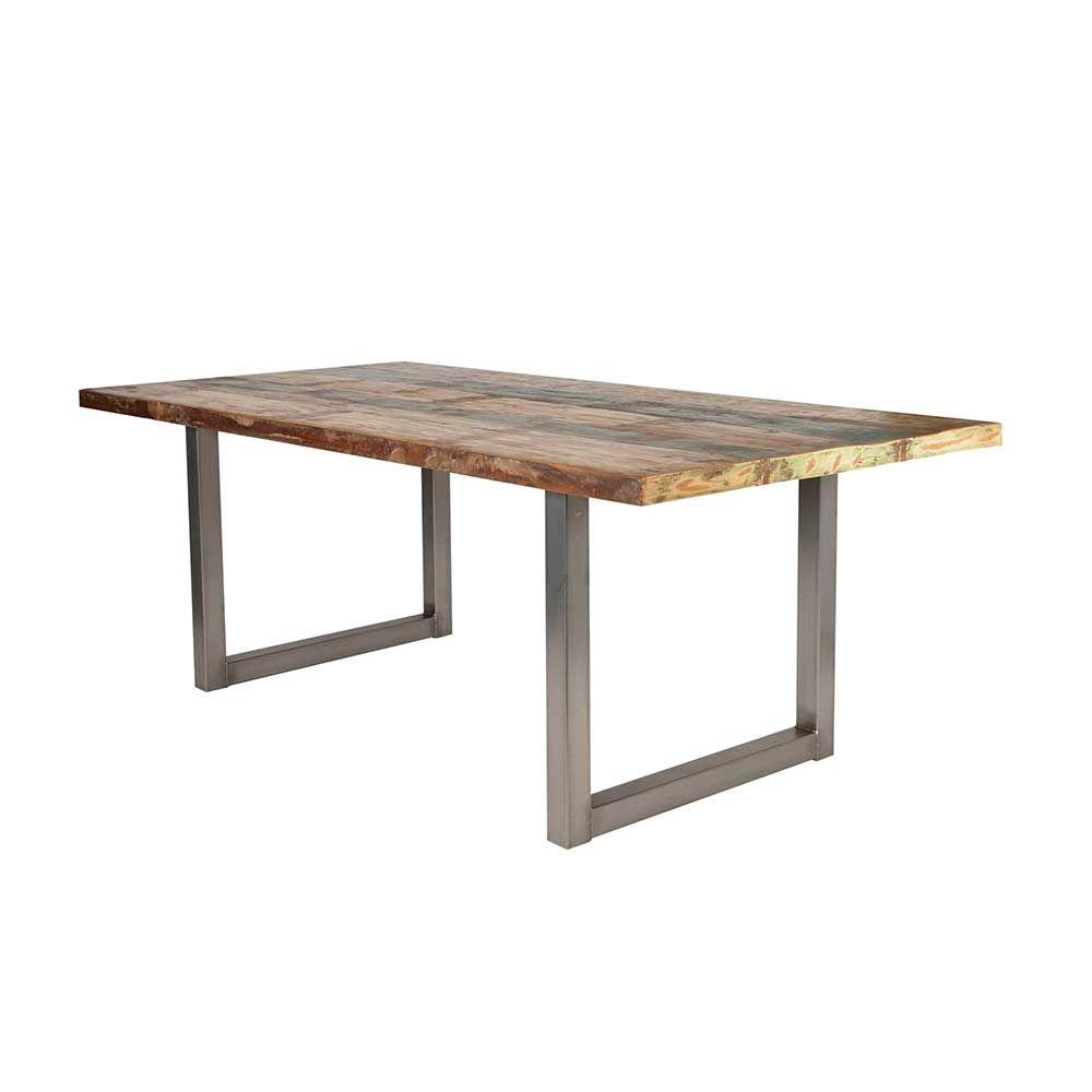 Holztisch design esstisch  Design Esstisch in Bunt Recyclingholz holztisch,massivholztisch ...