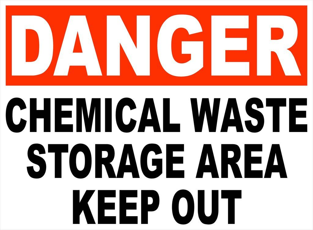 Danger Chemical Waste Storage Area Decal Keep Out Chemical Waste Keep Out Signs Storage Area