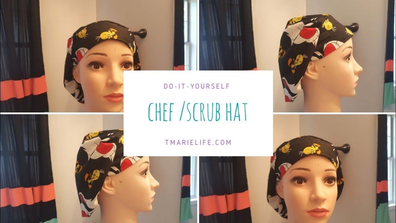 How To Make A Surgical Hat Chef Hat Diy Youtube Diy Hat Chefs
