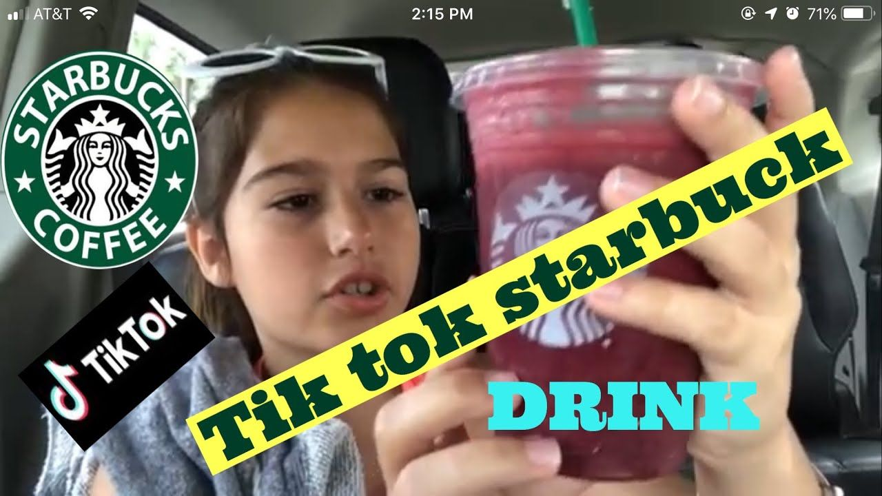 TRYING THE TIK TOK DRINK AT STARBUCKS DRIVE THRU VIRAL