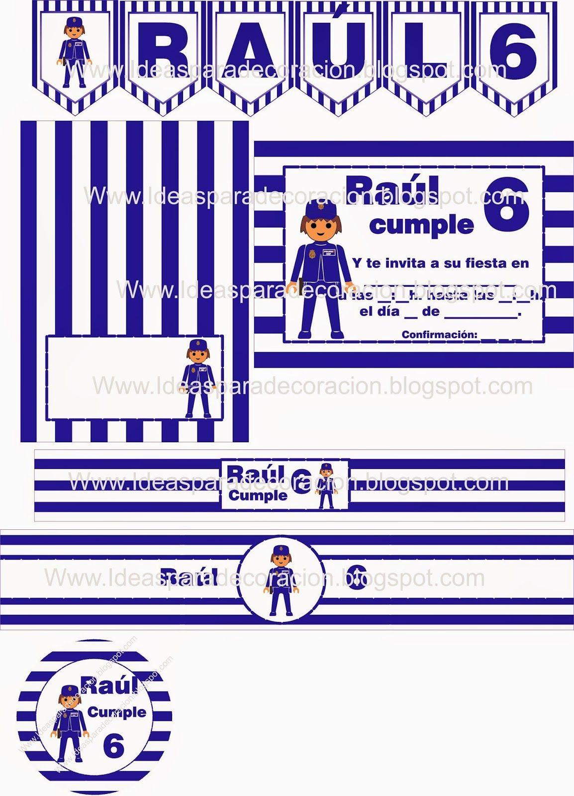 Kit imprimible playmobil policia | Kits imprimibles | Pinterest ...