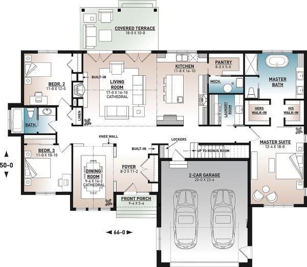 Farmhouse Style House Plan - 3 Beds 2 Baths 2117 Sq/Ft ...