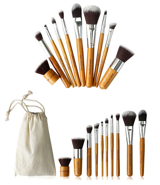 Bamboo Brush Set (10 Piece) Makeup brush set, Brush set