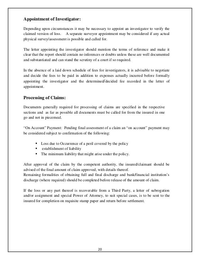 accident intimation letter insurance company stabnet sample - sample special power of attorney form