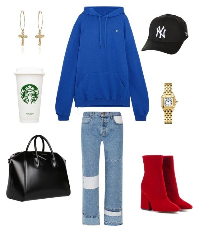 Unbenannt #80 by getonyourdancinshoes on Polyvore featuring polyvore, fashion, style, Vetements, Current/Elliott, Maison Margiela, Givenchy, New Era and clothing
