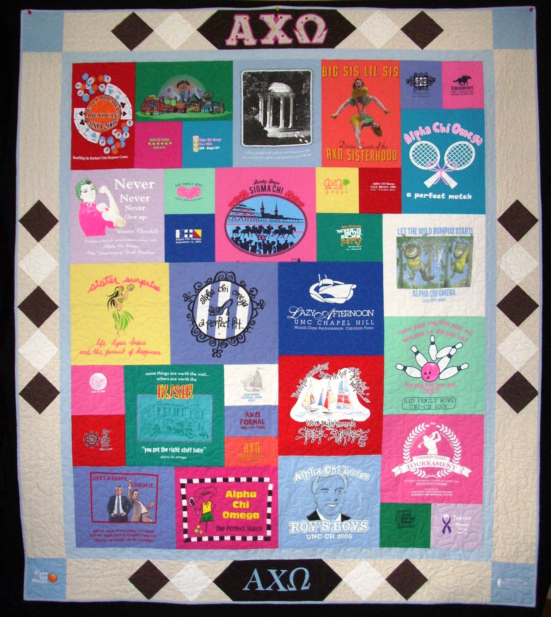 Really want this...a sorority Tshirt quilt! | A few favorites ... : pinterest t shirt quilt - Adamdwight.com