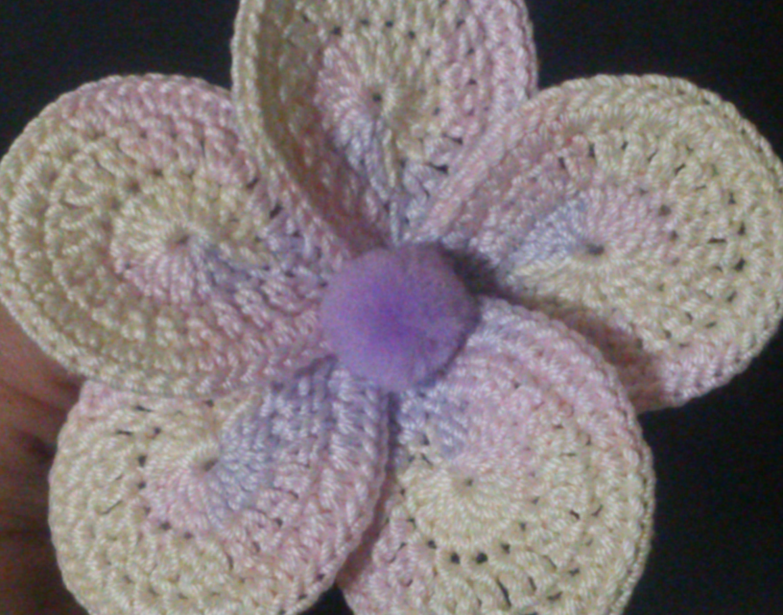 DIY CROCHET FLOWER 3D
