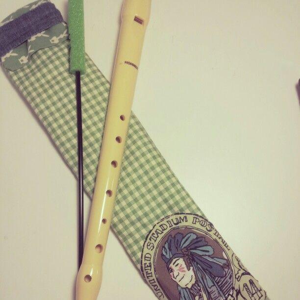Funda para la flauta.
