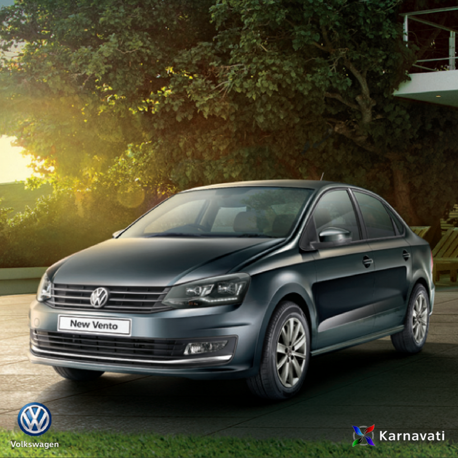 volkswagen vento is well integrated with the new full led headlamps led daytime running