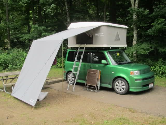 Camping With My Xb And New Rtt Scionlife Com Scion Xb Toyota Scion Xb Tailgate Tent