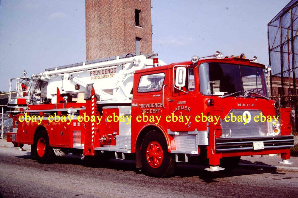 fire apparatus slide providence ri fire dept 1972 mack tower ladder