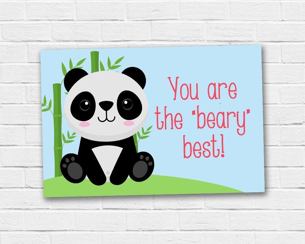 Panda bear teacher appreciation tag school gift ideas