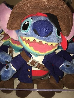 "disney parks 9"" stitch as pirate of caribbean plush new with tag"