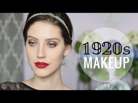 1920s Flapper Makeup A Models Muse Youtube Hår Pinterest