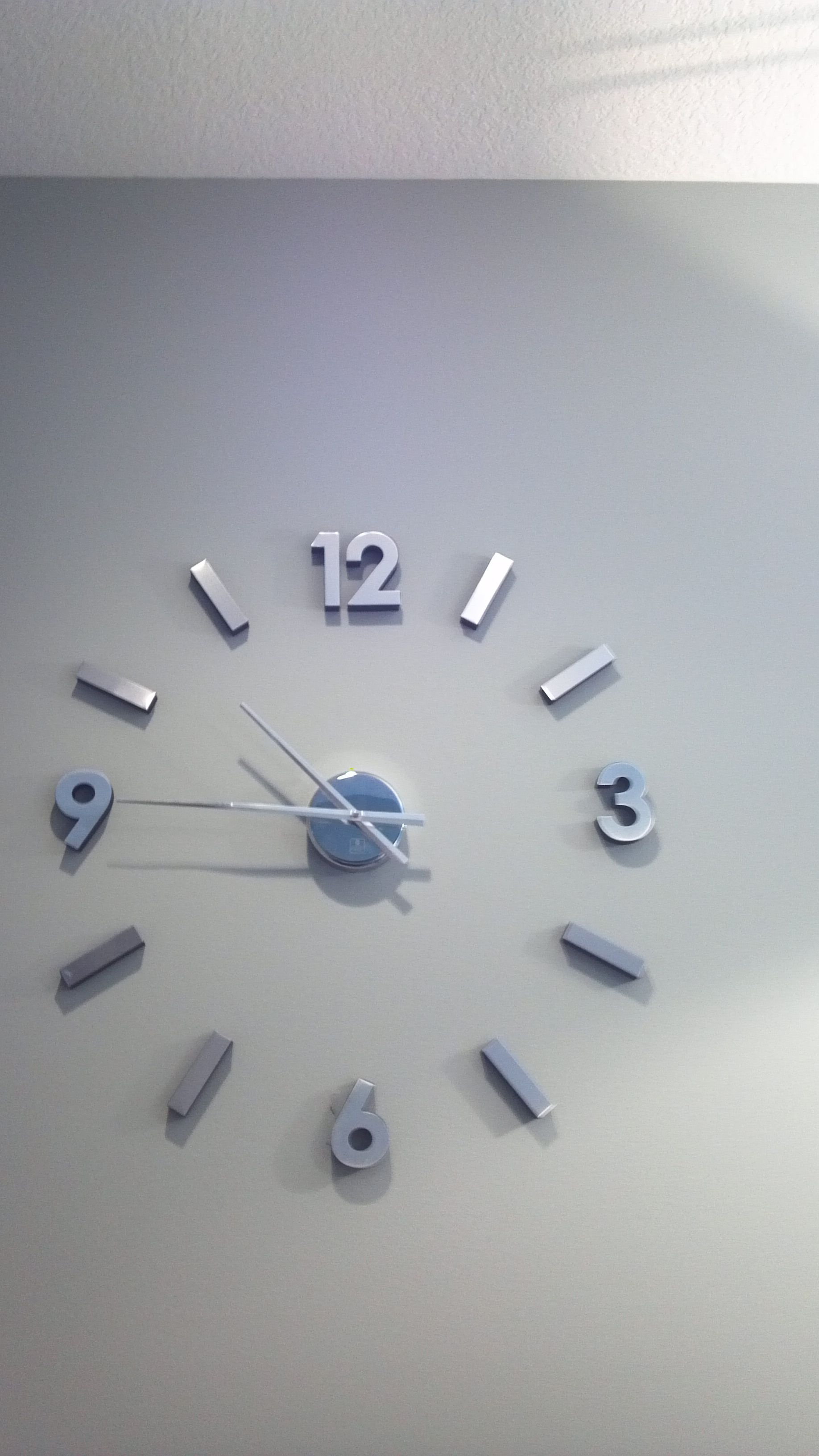 Stainless Steel Wall Clock Modern Wanduhren Uhren Edelstahl