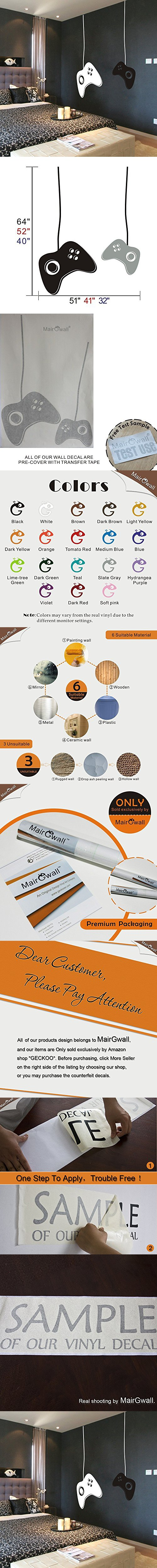 mairgwall game controllers wall decal gamer wall decal vinyl mairgwall game controllers wall decal gamer wall decal vinyl wall mural sticker game on decal