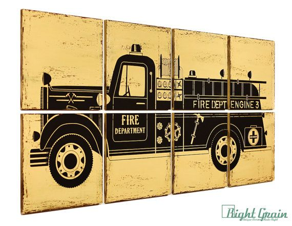 Old Fashioned Firefighter Wall Art Festooning - Wall Art Design ...